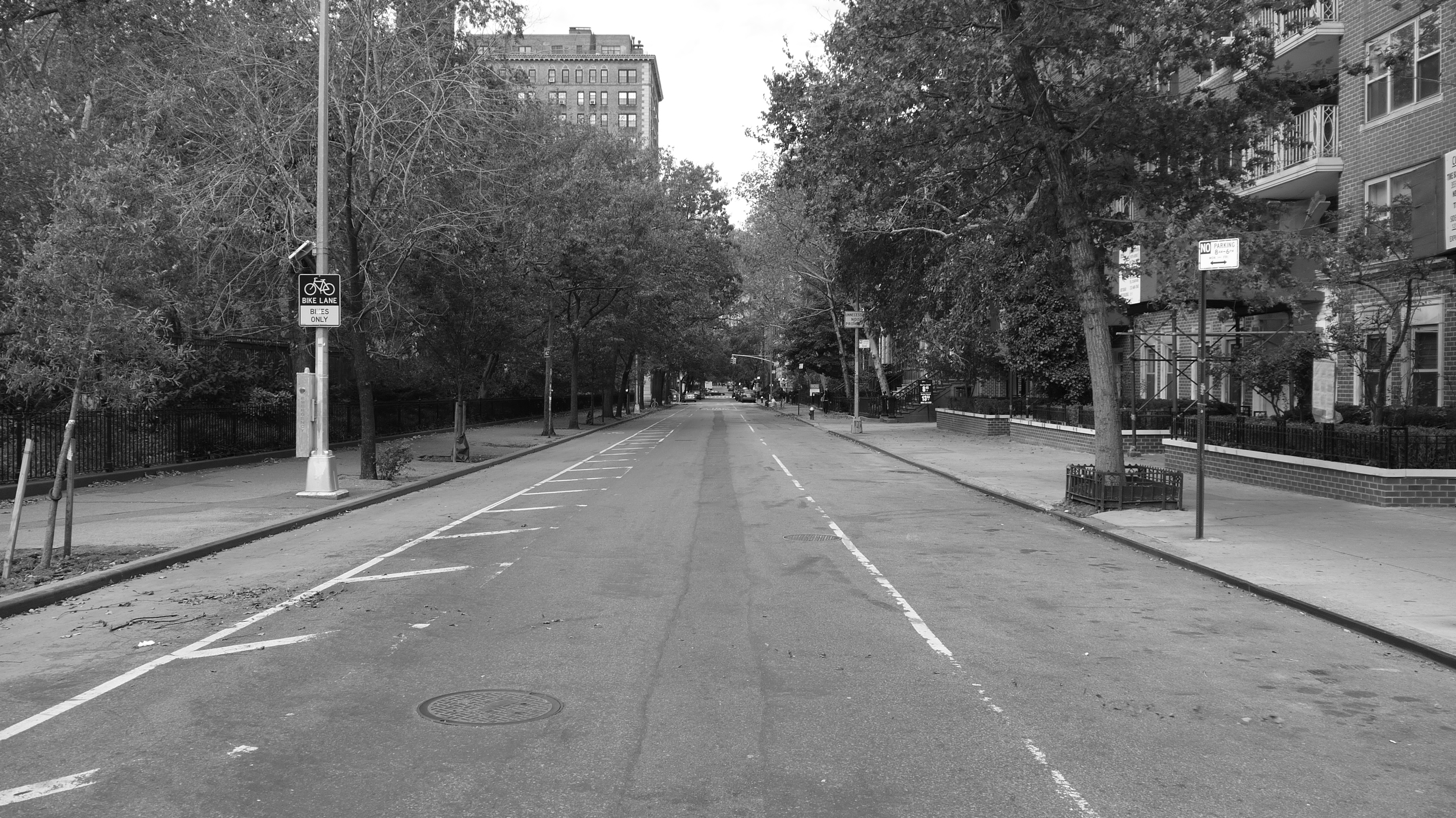 New York, Empty street after Sandy